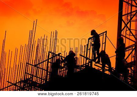 Construction Worker Working On A