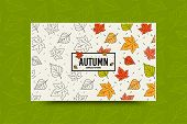 Autumn Maple Leaf Seamless Pattern. Fall Leaves Texture. Seasonal Web Banner Template With Leaf Patt poster