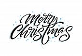 Christmas Hand Drawn Lettering. Xmas Calligraphy On White Background. Christmas Frozen Lettering. Xm poster