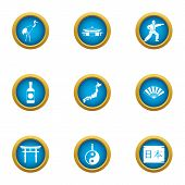 Spiritual Power Icons Set. Flat Set Of 9 Spiritual Power Vector Icons For Web Isolated On White Back poster