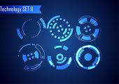 Set Of Circle Abstract Digital Technology Ui Futuristic Hud Virtual Interface Elements Sci- Fi Moder poster