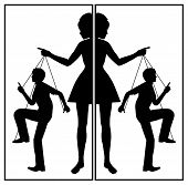 Controlling Wife. Domineering Woman And Passive Man In A Abusive Relationship poster