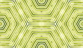 Green Geometric Watercolor. Delicate Seamless Pattern. Hand Drawn Stripes. Brush Texture. Awesome Ch poster