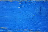 Old Painted Blue Wood Wall Boards Texture Or Background. Timber Lumber Material Canvas Empty Backdro poster