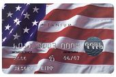 American Flag Credit Card With Fake Numbers.