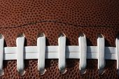 picture of ncaa  - Football laces and background - JPG