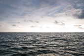Landscape Sky And Sea. Empty Skyline. Sea Background poster
