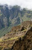 Peru, Ollantaytambo - Incan Fortress Strategically Situated In The North Part For Sacred Valley In P poster