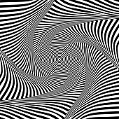 Abstract Op Art Design. Illusion Of Rotation And Torsion Movement. Vector Illustration. poster