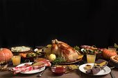 Thanksgiving Turkey Dinner With All The Sides poster