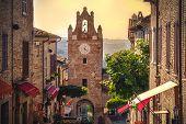 Little Village Scene In Italy - Gradara - Pesaro Province - Marche Region poster