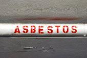 stock photo of asbestos  - Mandatory labeling of the Asbestos wrapped water lines - JPG