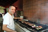 Smiling Barbecue Chef