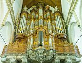stock photo of pipe organ  - AMSTERDAM  - JPG