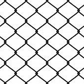 image of chain link fence  - A chain link fence pattern that tiles seamlessly in any direction - JPG