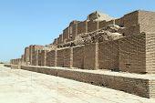 picture of ziggurat  - Brick ziggurat Choqa Zanbil near Shush Iran - JPG