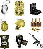 army and military icons