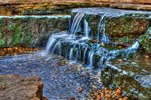 Beautiful Cascading Waterfall In High Dynamic Range