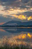 Постер, плакат: Озеро Форгензее Бавария Германия