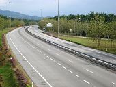 stock photo of jawi  - Photo of Malaysian Highway taken at Jawi exit - JPG