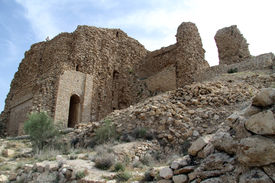 foto of zoroastrianism  - Ruins of zoroastrian temple Qal - JPG