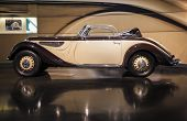 MUNICH, GERMANY - JUNE 17, 2012: : Bmw 327/28-series Cabrio Coupe On Display In Bmw Museum in June 1