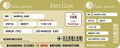 picture of first class  - Golden Boarding Pass First Class Vector EPS - JPG