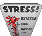 stock photo of suspension  - Stress Thermometer Measure Stressful Overload Feeling - JPG