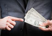 Businessman With Dollars In His Hand, Concept For Business And Earn Money