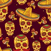 Cinco de Mayo Seamless Pattern
