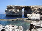 image of gozo  - natural stone arch Azure Window and Mediterranean coastline on Gozo Island - JPG