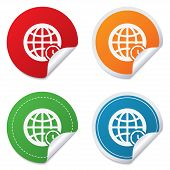 pic of universal sign  - World time sign icon - JPG