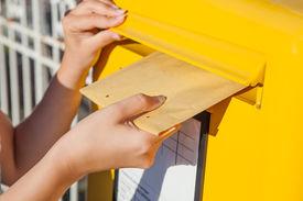 stock photo of mailbox  - Close - JPG