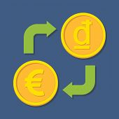stock photo of dong  - Currency exchange - JPG