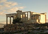 pic of parthenon  - The Acropolis of Athens contains the remains of several ancient buildings of great architectural and historic significance, the most famous being the Parthenon ** Note: Visible grain at 100%, best at smaller sizes - JPG