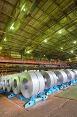 pic of coil  - galvanized steel coil in a warehouse - JPG