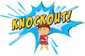 pic of knockout  - Knockout punch icon on white - JPG