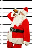 ������, ������: BUSTED Santa Claus is arrested and his MUG SHOT taken at the Police Station Santa was a Bad Bad bo