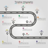 stock photo of street-art  - Road infographic timeline element layout - JPG