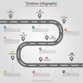 foto of street-art  - Road infographic timeline element layout - JPG
