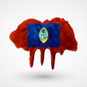 pic of guam  - Flag of Guam painted colors - JPG