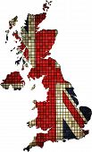 image of united states map  - United Kingdom map grunge mosaic,