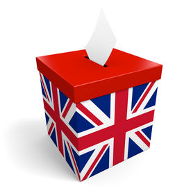 stock photo of jack-in-the-box  - A voter collection box for ballots - JPG