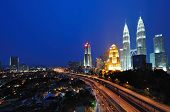 pic of petronas twin towers  - Kuala Lumpur Cityscape Night Scenery - JPG