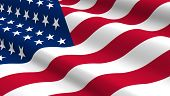 picture of computer-generated  - United States flag background - JPG