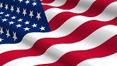 foto of north star  - United States flag background - JPG