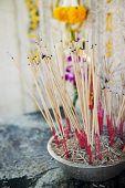 picture of graveyard  - joss stick pot at the graveyard - JPG
