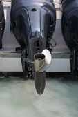 stock photo of outboard engine  - Outboard Widely used in the present There is a very high - JPG