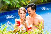 picture of bathing  - Couple in vacation - JPG