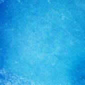 pic of frozen  - Textured ice blue frozen rink winter background - JPG